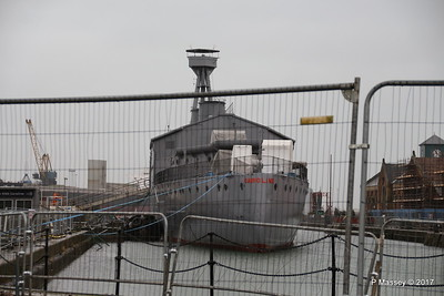 HMS CAROLINE Closed until Spring 2017 Belfast 26-02-2017 10-59-35