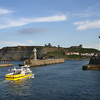 Returning from an evening pleasure cruise, Whitby Harbour, August 2008