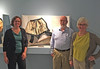 At the UNH Museum: Astrida Schaeffer, Rob, Dale Valena. 'Whalebone to Steel: The Shape of Fashion.' My baleen in center. September 25, 2015.