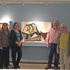 At the UNH Museum: Tara Fulton, Astrida Schaeffer, Bill Ross, Dale Valena. 'Whalebone to Steel: The Shape of Fashion.' My baleen in center. September 25, 2015.