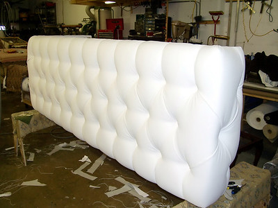 Custom tufted front for counter