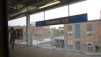 Western Station CTA Blue Line to ORD Chicago 01-06-2016 09-44-42