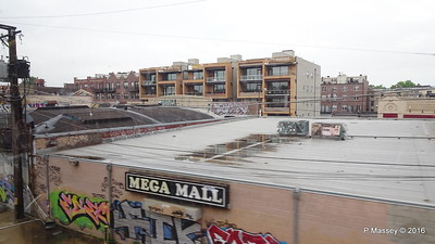 Mega Mall Graffiti CTA Blue Line Downtown to ORD Chicago 01-06-2016 09-48-39