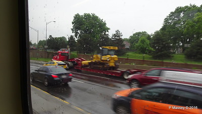 Rain I 90 by CTA Blue Line ORD to Clark-Lake Chicago 01-06-2016 07-57-12
