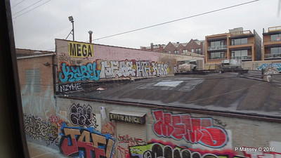 Mega Mall Graffiti CTA Blue Line Downtown to ORD Chicago 01-06-2016 09-48-42