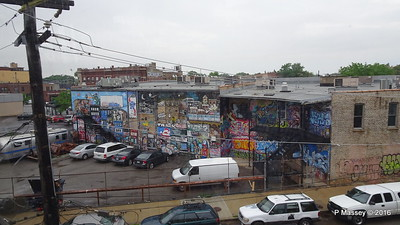 1950s Caravan Graffiti CTA Blue Line Downtown to ORD Chicago 01-06-2016 09-48-08