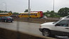 Rain School Bus I 90 by CTA Blue Line ORD to Clark-Lake Chicago 01-06-2016 08-02-34
