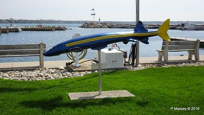 Baileys Harbour Town Marina Fish Sculpture WI PDM 24-05-2016 10-04-58