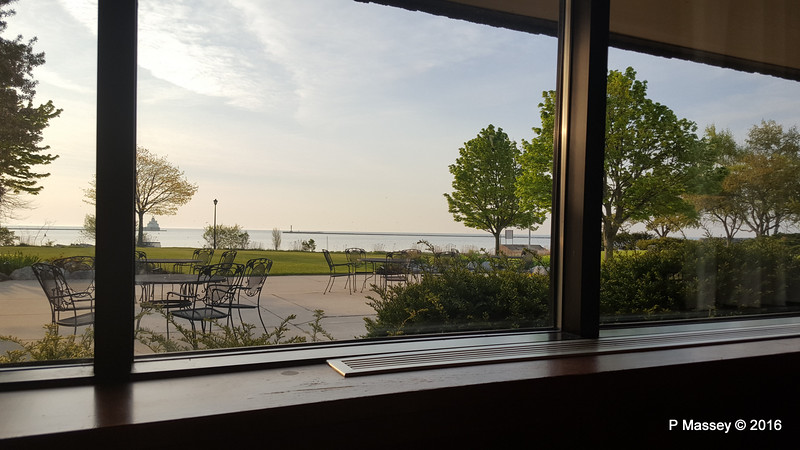 Manitowoc Harbour from Breakfast Room Baymont Inn & Suites Lakefront Manitowoc 24-05-2016 06-16-49