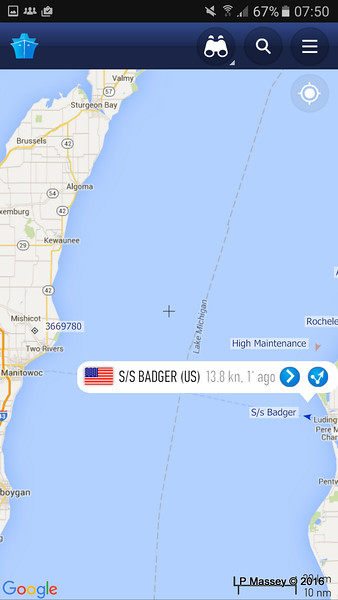 ss BADGER on her way to Manitowoc for us 25-05-2016 08-50-17
