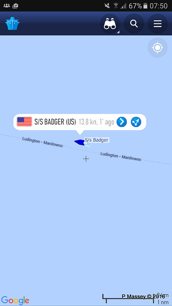 ss BADGER on her way to Manitowoc for us 25-05-2016 08-50-018