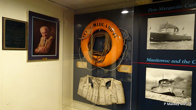 CITY OF MIDLAND 41 Lifebelt Lifejacket ss BADGER Museum Main Deck PDM 25-05-2016 12-01-036