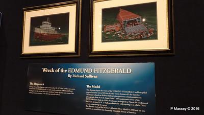 Diorama EDMUND FITZGERALD Wreck Wisconsin Maritime Museum PDM 25-05-2016 08-32-24