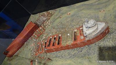 Diorama EDMUND FITZGERALD Wreck Wisconsin Maritime Museum PDM 25-05-2016 08-32-31