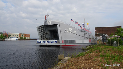 USS LST 393 Museum Entrance Bow Muskegon PDM 26-05-2016 07-49-23