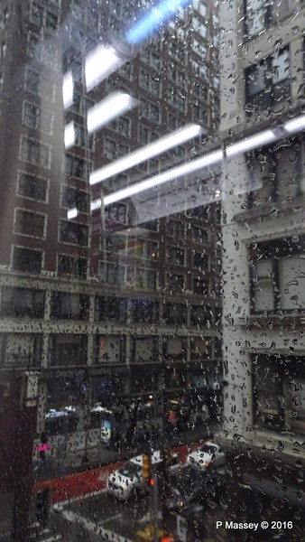 Can't See for Rain CTA Brown Line Elevated N Wabash Ave Chicago 31-05-2016 15-35-52