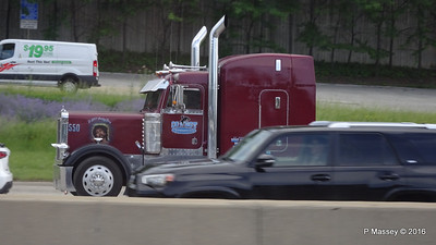 Maroon peterbilt 550 still saving lives Cowboy I 90 by CTA Blue Line Chicago 31-05-2016 14-03-55