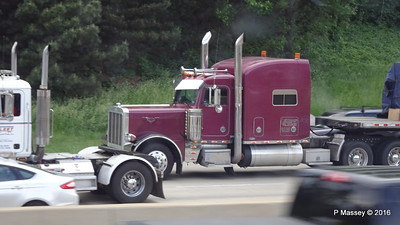 Fleet MACK Marron Peterbilt Crabtree Trucking I 90 by CTA Blue Line Chicago 31-05-2016 14-03-043