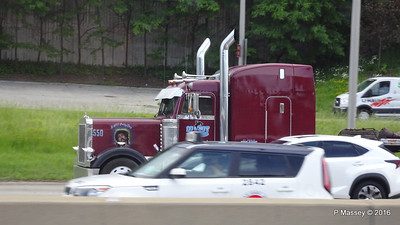 Maroon peterbilt 550 still saving lives Cowboy I 90 by CTA Blue Line Chicago 31-05-2016 14-03-53