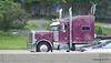 Maroon Peterbilt Crabtree Trucking I 90 by CTA Blue Line ORD - Washington Chicago 31-05-2016 14-04-006