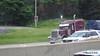 Maroon Peterbilt Crabtree Trucking I 90 by CTA Blue Line ORD - Washington Chicago 31-05-2016 14-04-02