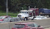 Fleet MACK Marron Peterbilt Crabtree Trucking I 90 by CTA Blue Line Chicago 31-05-2016 14-03-047