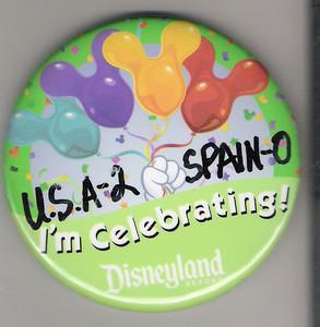 USA 2 Spain 0 DLR Button