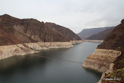 Very Low Water Level Colorado River above Hoover Dam from Arizona Side 31-03-2017 09-10-55