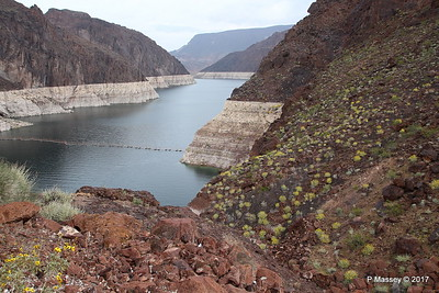 Very Low Water Level Colorado River above Hoover Dam to Lake Mead from Arizona Side 31-03-2017 09-11-43