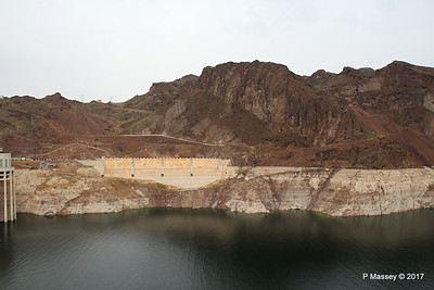 Very Low Water Level Colorado River above Hoover Dam from Arizona Side 31-03-2017 09-11-03