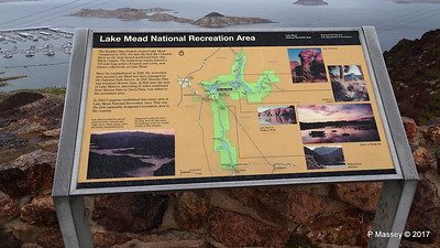Map Lake Mead National Recreation Area at Lake Mead Overlook Nevada 31-03-2017 08-51-10