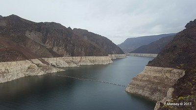Very Low Water Level Colorado River above Hoover Dam from Arizona Side 31-03-2017 18-11-00