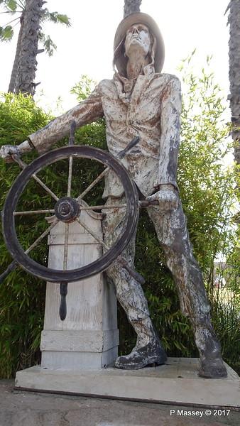 Sculpture Dedication to Fishermen Ports O' Call Village San Pedro LA 17-04-2017 07-40-55