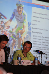 Ivan Basso talks about how nice the Colorado race fans have been
