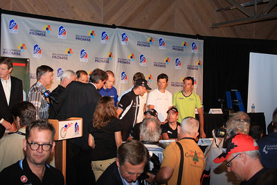 End of USAPPC press conference II (Jonathan Vaughters of Garmin-Cervelo in foreground)