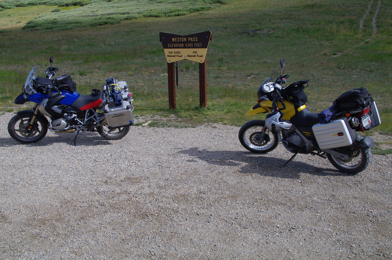 Tomas and I headed to Independence Pass via dirt  on Weston Pass