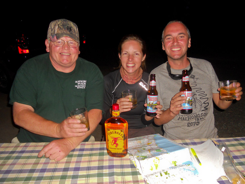 Moose Drool + Fire Whiskey = Big grins!