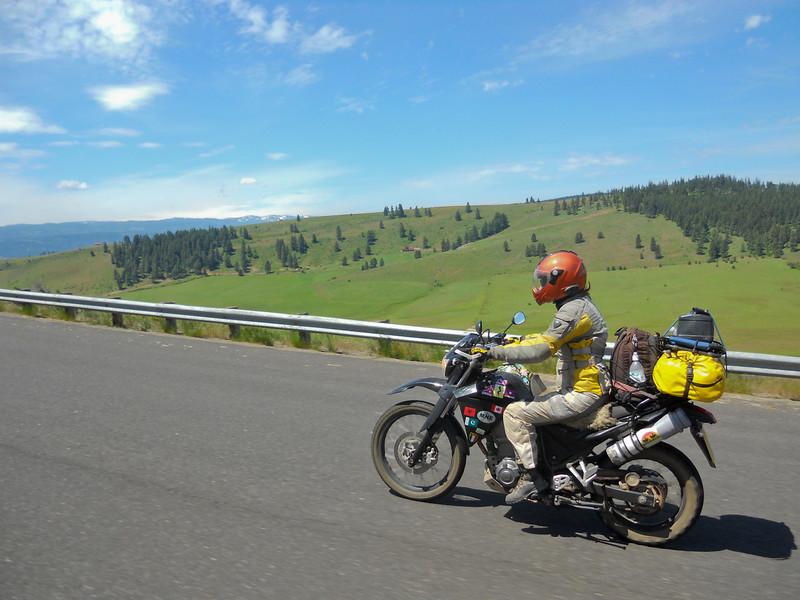 Heading onto the high plains.