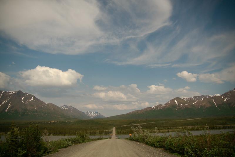 A river crossing on the Denali Highway, Alaska