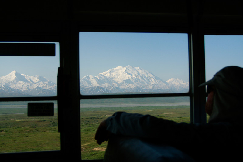 Mt. McKinley out the bus window