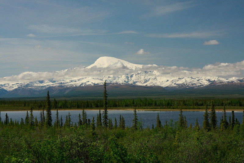 Mt. Sanford, 16,237 ft, in Wrangell - St. Elias National Park, Alaska. The park is the largest in the U.S. and is actually larger than nine states.