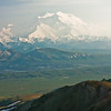Our tent is visible in the lower right on a hilltop, with the Denali massif in the distance