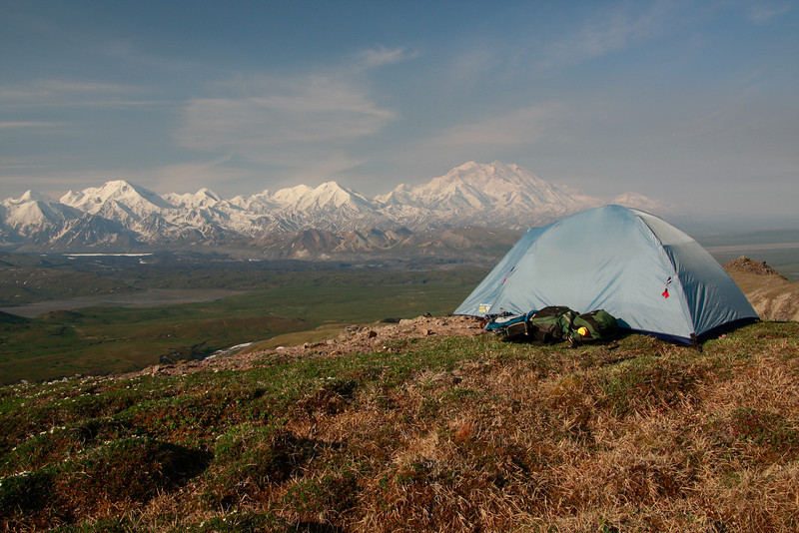 Camping by Mt. McKinley, Alaska
