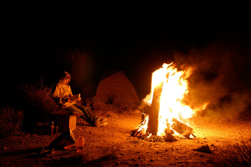 Camping with Julie in the Mojave Desert