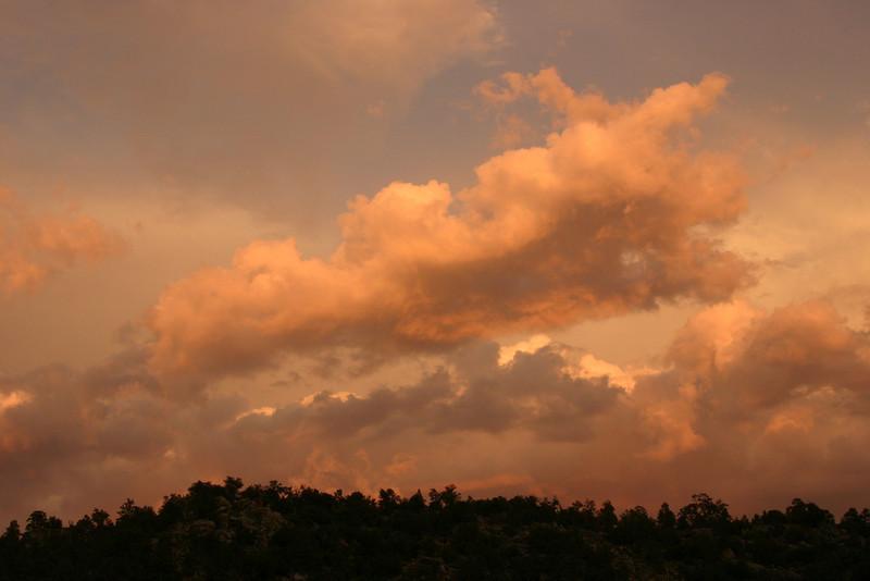 A beautiful sunset in California's Sierra Nevada