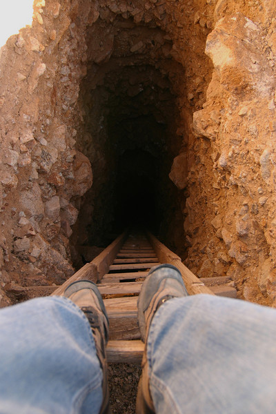 Would you dare? An abandoned mine in the Mojave Desert...