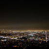 Los Angeles at night, taken from the Griffith Observatory