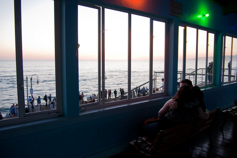 Looking out over the Pacific, Santa Monica, CA