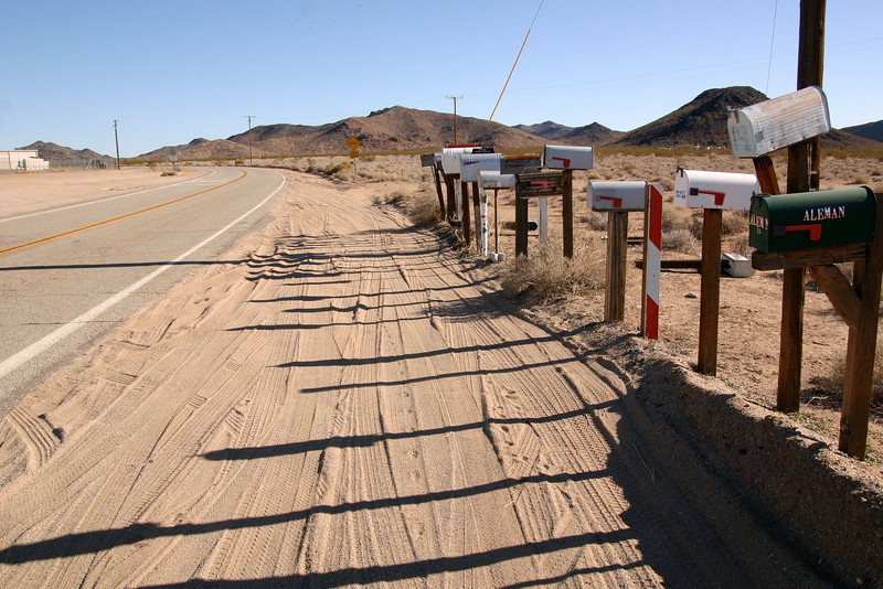 Mailboxes in the desert