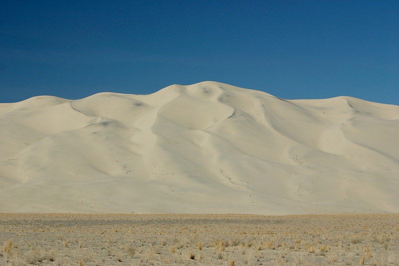 The Eureka Dunes in Death Valley rise an impressive 700 feet above the valley floor